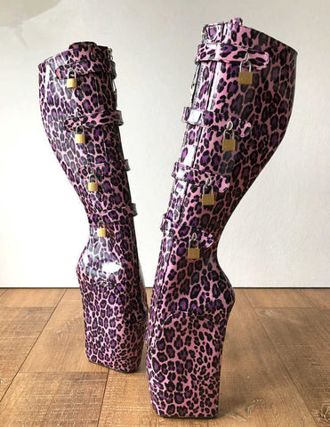 XTC PINK LEOPARD BOOTS