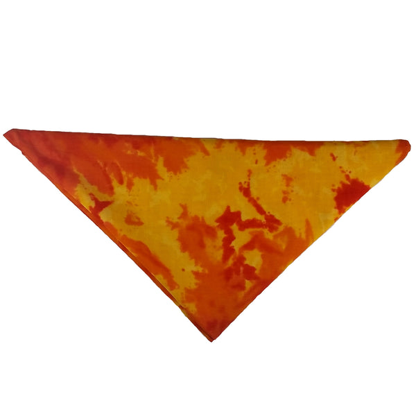 "Woof-Dana ""Tye Dye"" Orange Dog Bandana"