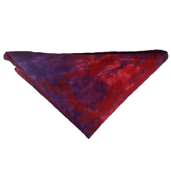 "Woof-Dana ""Tye Dye"" Red Dog Bandana"