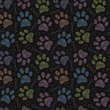"Woof-Dana ""Colorful Paws"" Dog Bandana"