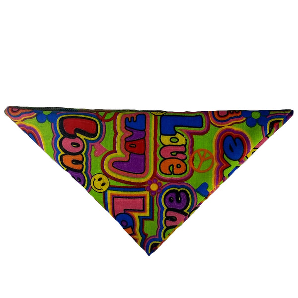 "Woof-Dana ""Retro Love"" Dog Bandana"