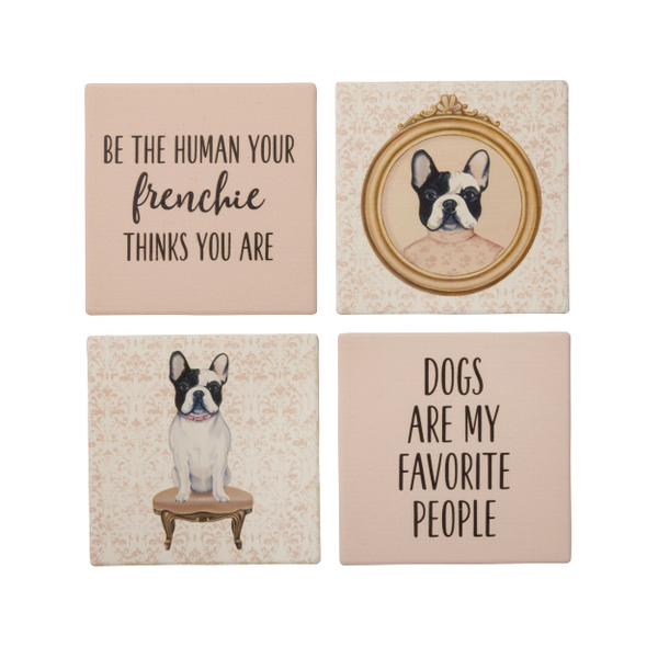 Stone Coaster Set - Frenchie