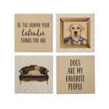 Coaster Set - Yellow Labrador