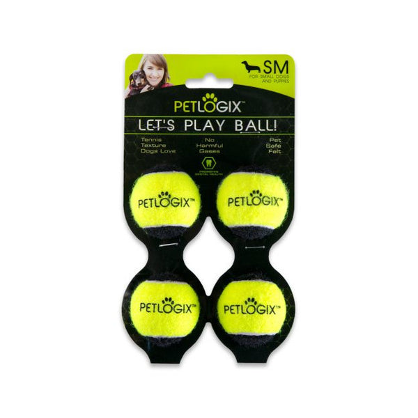 Let's Play Ball 4pk - Fetch Balls for Small Dogs