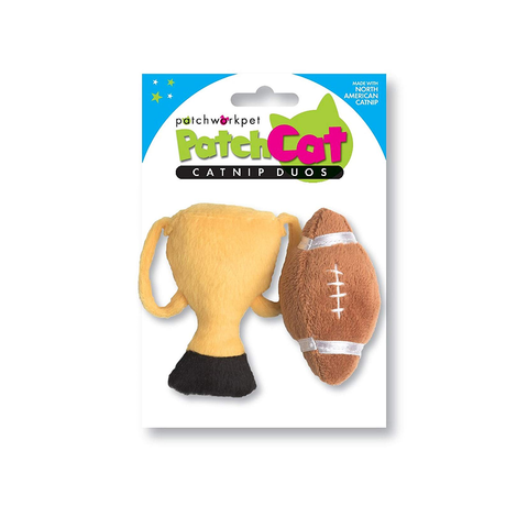 Football Champ Set Plush Cat Toy