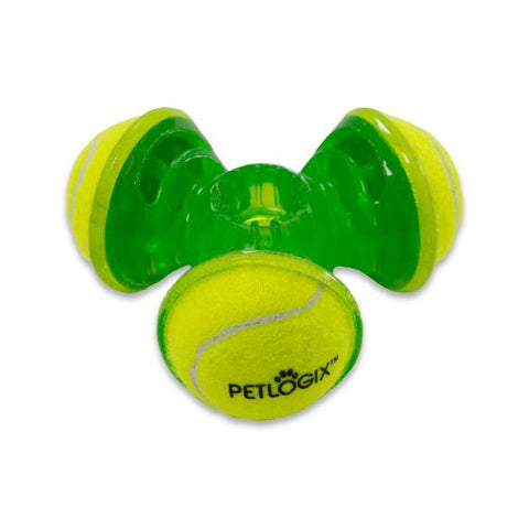Tennis Throw Trio Rubber Dog Toy