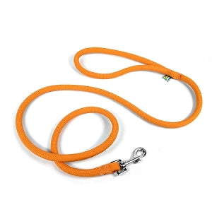 Round Braided Orange Rope Dog Leash