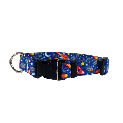 Far Out Space Nylon Dog Collar