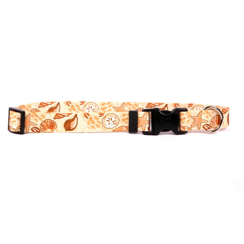 Beach, Shells and Paws Nylon Dog Collar