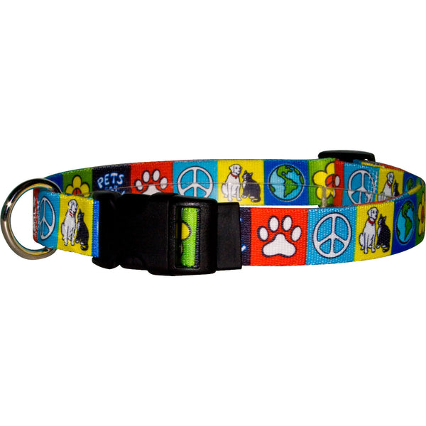 Pets for Peace Nylon Dog Collar