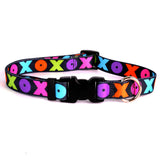 Hugs and Kisses Nylon Dog Collar