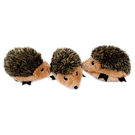 Hedgehog Miniz Plush Dog Toy