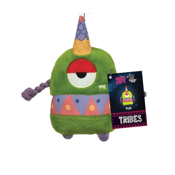 Flo the Alien Flex Plush Dog Toy