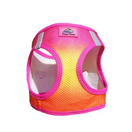 American River Dog Harness - Raspberry Pink & Orange