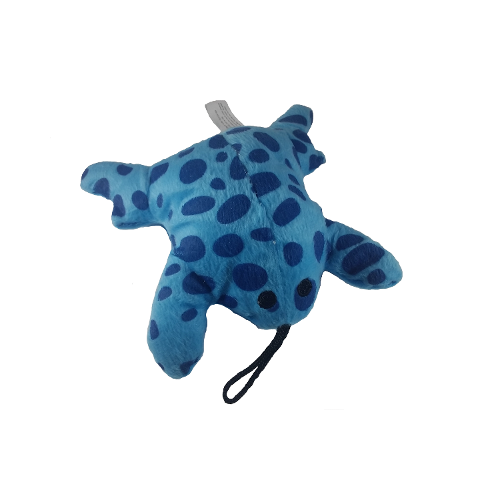 Soft Plush Blue Frog Dog Toy