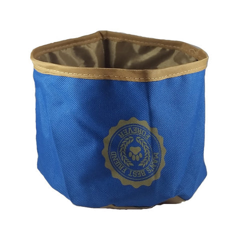 Blue Travel Pet Food Bowl