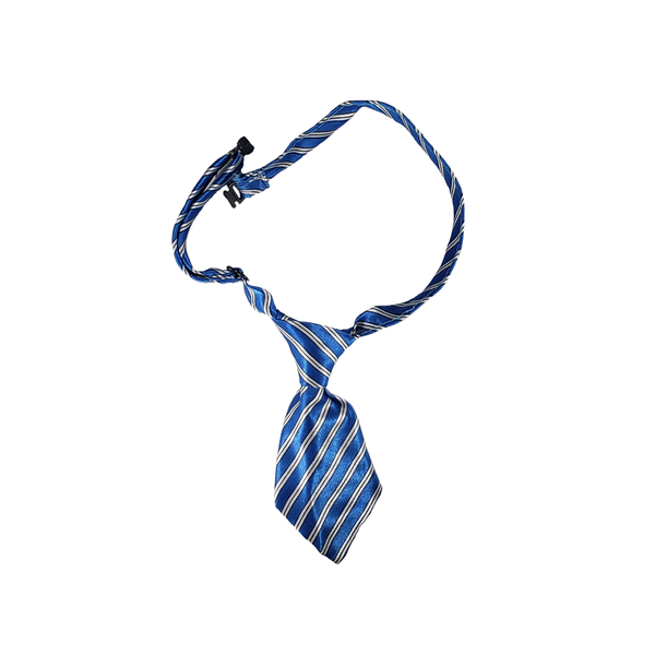Dog Necktie - Blue Pinstripe