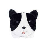 Squeakie Bun Border Collie Plush Dog Toy