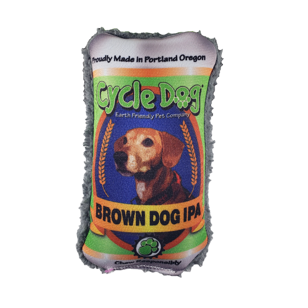 Duraplush Brew Gear - Brown Dog IPA dog toy