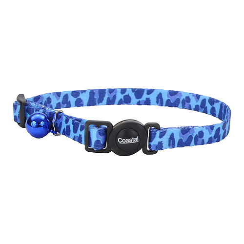 Blue Leopard Breakaway Nylon Cat Collar