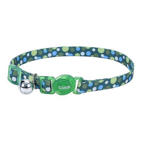Green Polka Dot Breakaway Cat Collar