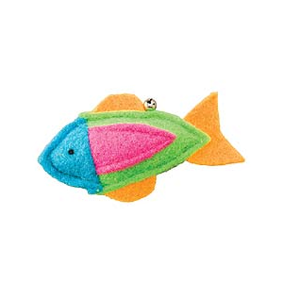 Whiskins Felt Fish Cat Toy - Blue