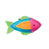 Whiskins Felt Fish Cat Toy - Pink