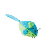 Whiskins Felt Mouse Cat Toy - Blue/Green
