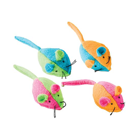 Whiskins Felt Mouse Cat Toy - Group