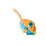 Whiskins Felt Mouse Cat Toy - Orange/Blue