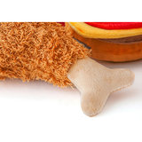 Classic Chicken Drumstick Plush Dog Toy