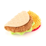 Taco Tuesday Plush Dog Toy Seperated