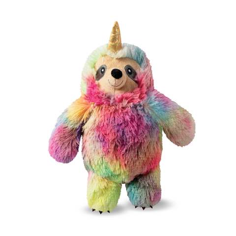 Tye Dye Slothicorn Plush Dog Toy