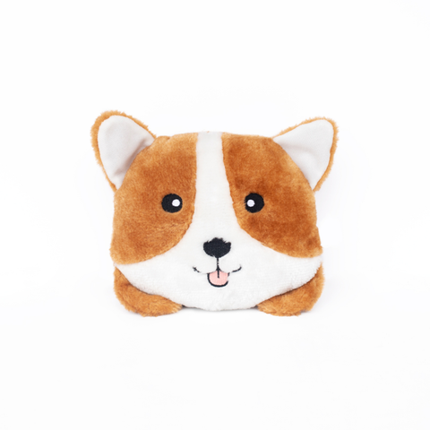Squeakie Bun Corgi Plush Dog Toy