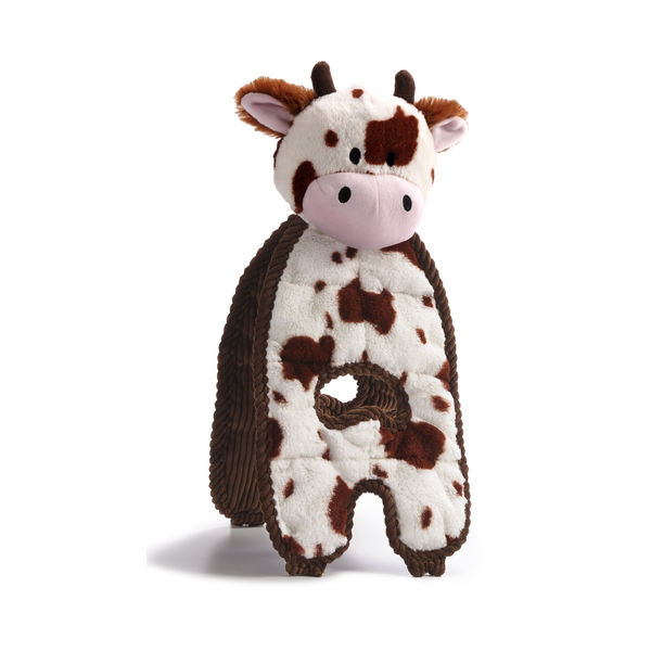 Cuddle Tug Cow Plush Dog Toy