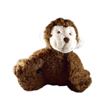 Brown Monkey Plush Dog Toy
