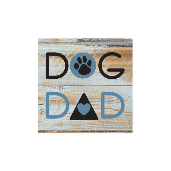 """Dog Dad"" Wood Pallet Magnet"
