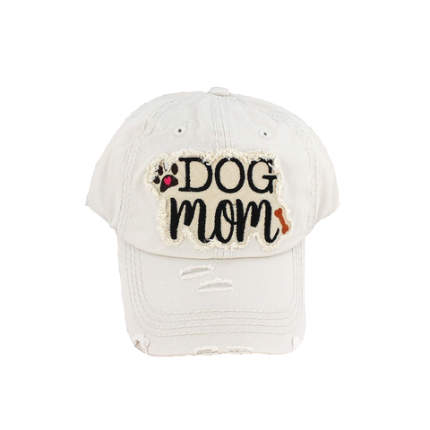 Distressed Vintage Hat - Dog Mom