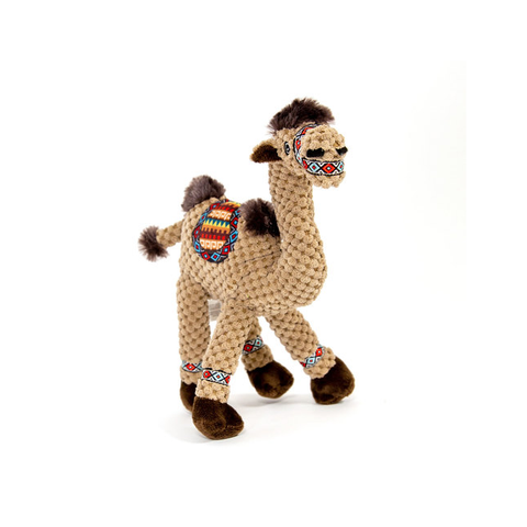 Floppy Camel Plush Dog Toy with squeakers
