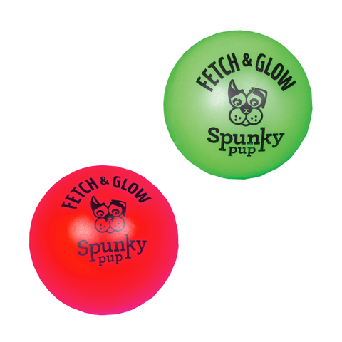 Fetch and Glow Ball 2pk - Small Grn/Rd