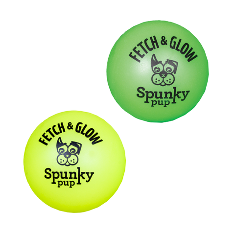 Fetch and Glow Ball 2pk - Small Ylw/Grn