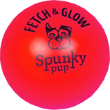 Fetch and Glow Ball Dog Toy - Red