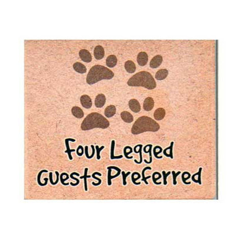 Four-Legged Guests Dog Coaster