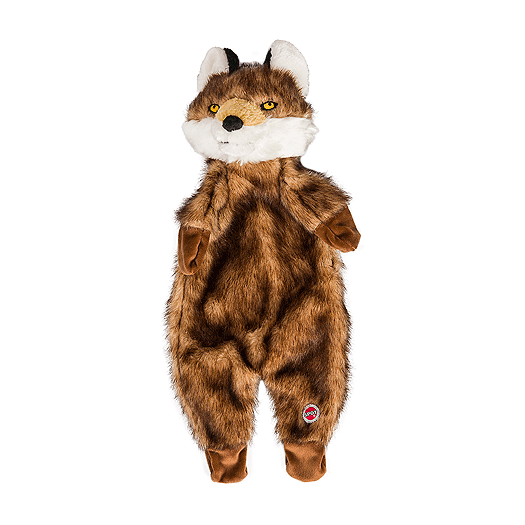 Furzz Fox Stuffing Free Plush Dog Toy
