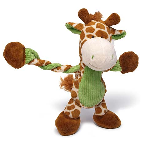 Pulleez Plush Giraffe Dog Toy