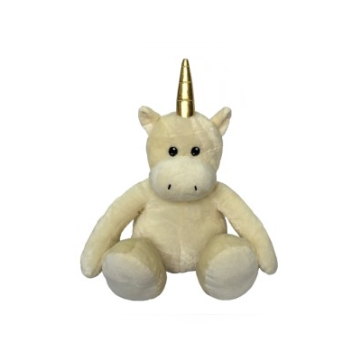 Golden Horn Plush Unicorn Dog Toy