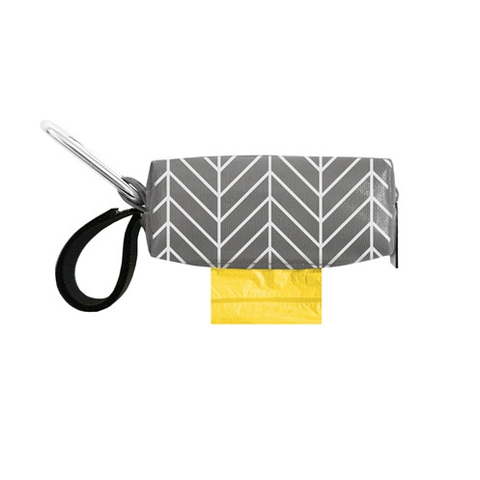 Gray Chevron Duffel with Waste Bags
