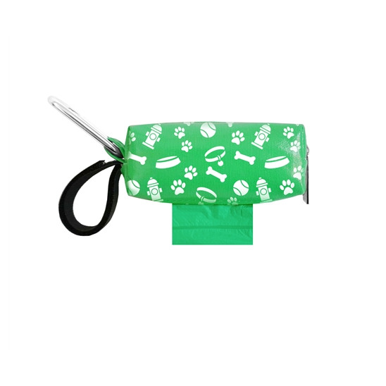Green Pet Gear Duffel with Waste Bags
