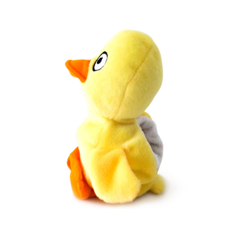 Hatchable Duck Egg Plush Dog Toy - Side