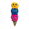 Ice Cream Cone Plush Dog Toy
